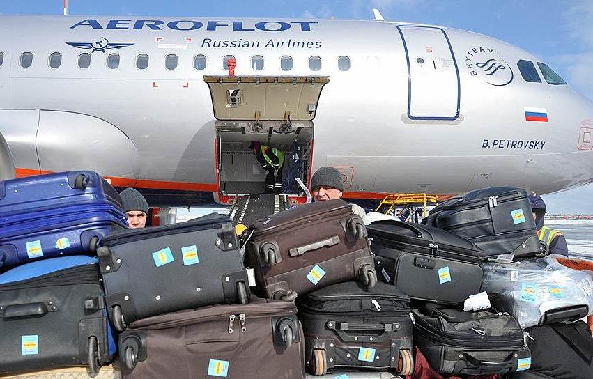 Габариты и стоимость провоза багажа в самолете Аэрофлот