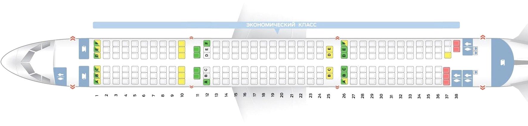 Лучшие места в А321 Уральские авиалинии