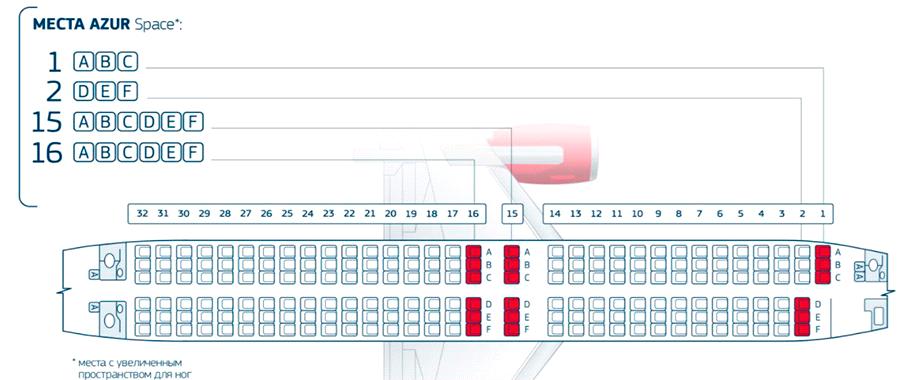 Азур эйр лучшие места в самолете