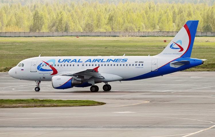 Самолет Аirbus 319 авиакомпании Ural Airlines