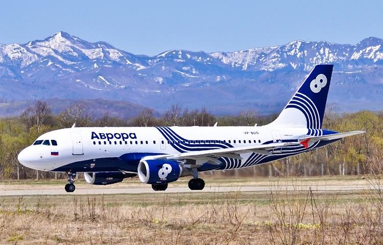 Аirbus А319 авиакомпании Аврора