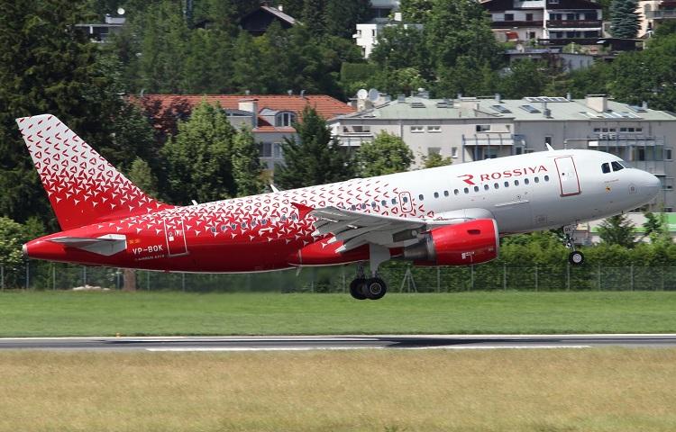 Airbus 319 авиакомпании Rossiya Airlines