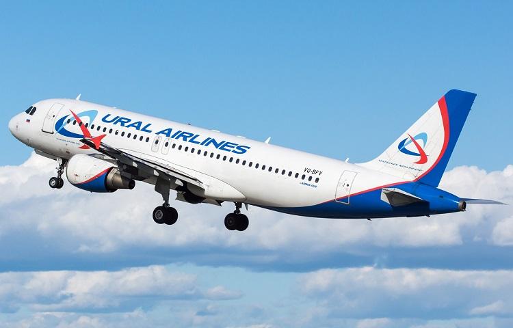 Самолет Аэробус 320 авиакомпании Ural Airlines