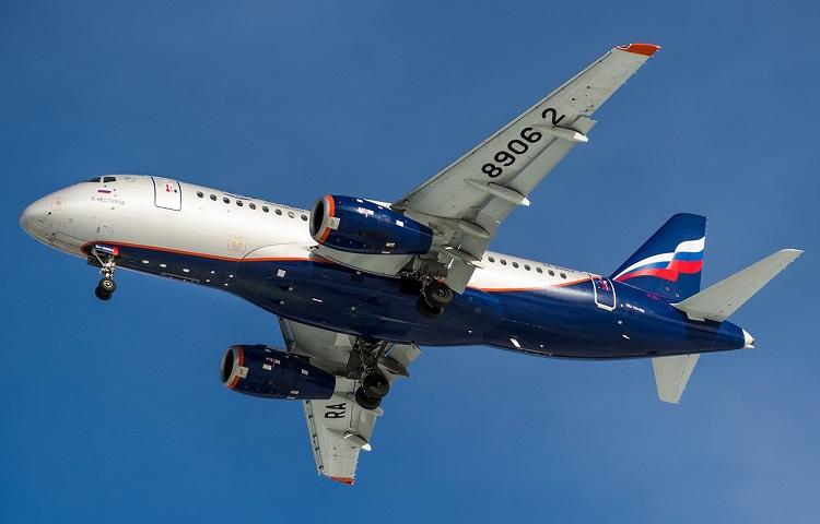 Сухой Суперджет 100 авиакомпании Aeroflot