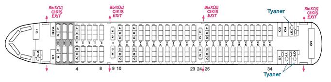 Схема компоновки авиасудна А321 Турецкие авиалинии