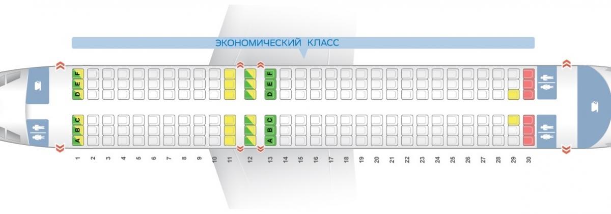 Схема салона А320 авиакомпании Ellinair