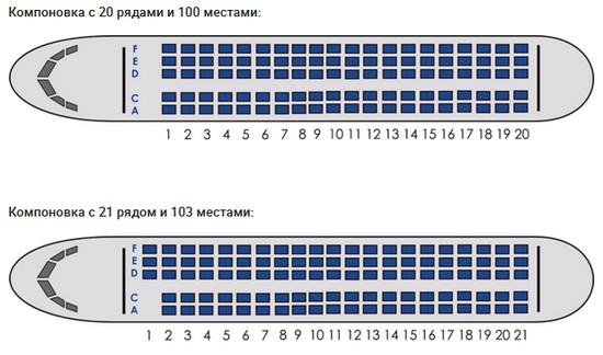 Компоновка салона SuperJet 100-95LR