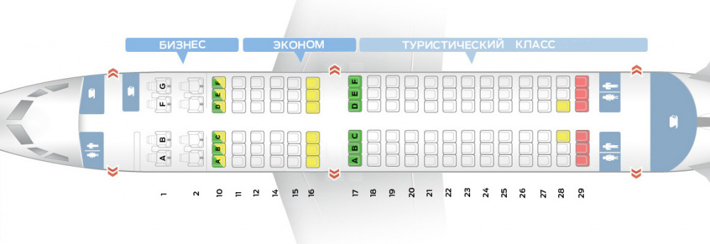 Схема салона самолета Боинг 737-300