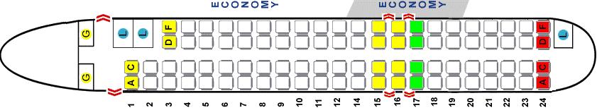 Схема салона Bombardier CRJ 900