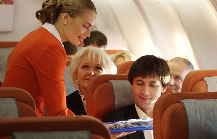 Питание пассажиров в самолетах Аэрофлота