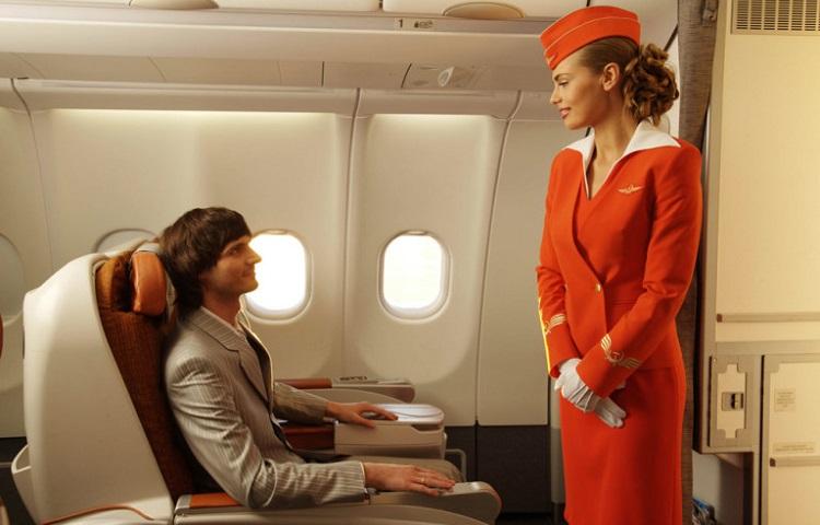 Особенности сервиса в разных классах Aeroflot