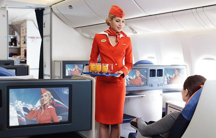 Питание в самолетах компании Аэрофлот