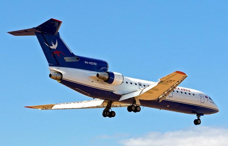 Авиалайнер Як-42 компании Ижавиа
