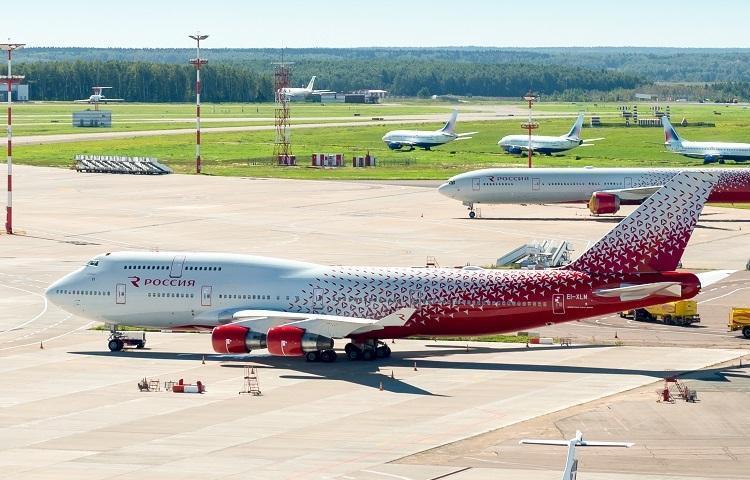 Самолет Боинг 747 400 авиакомпании Россия