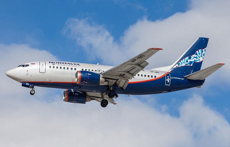 Boeing 737-500 авиаперевозчика Нордавиа