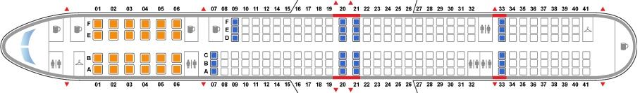 Схема салона Boeing 757-300