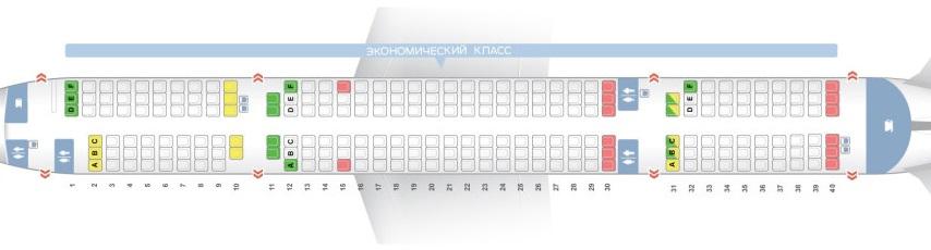 Схема салона Boeing 757