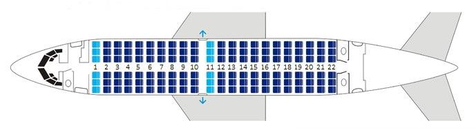 Боинг 737-500 Нордавиа - схема салона