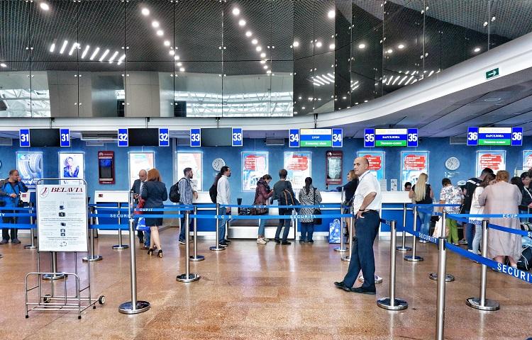 Прохождение регистрации на рейс Belavia