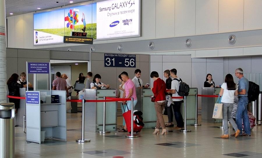Прохождение регистрации на рейс компании Россия