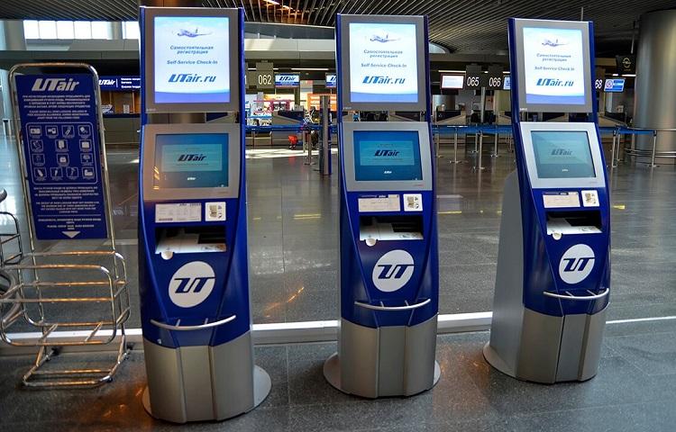 Терминалы саморегистрации на рейс Ютэйр