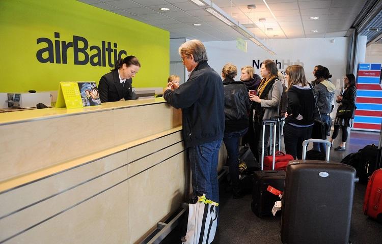 Прохождение регистрации на самолет компании AirBaltic
