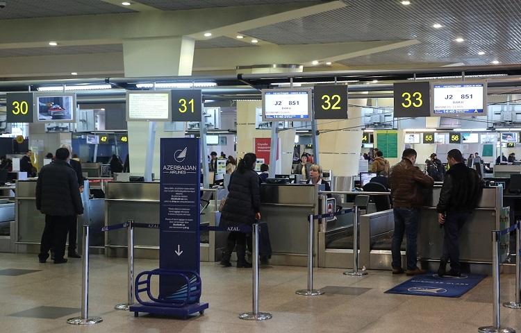Прохождение регистрации на рейс компании AZAL