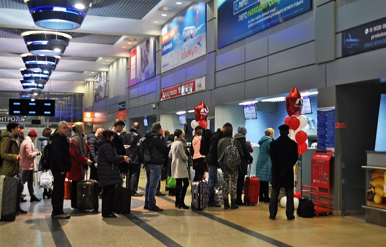 Прохождение регистрации на рейс компании Нордвинд
