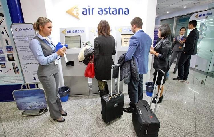 Регистрация на авиарейс перевозчика Эйр Астана