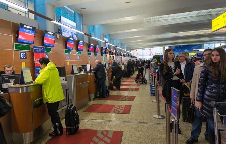 Прохождение регистрации на самолет Алиталия
