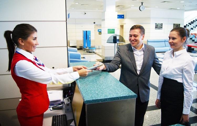 Прохождение регистрации на рейс Атлас Глобал