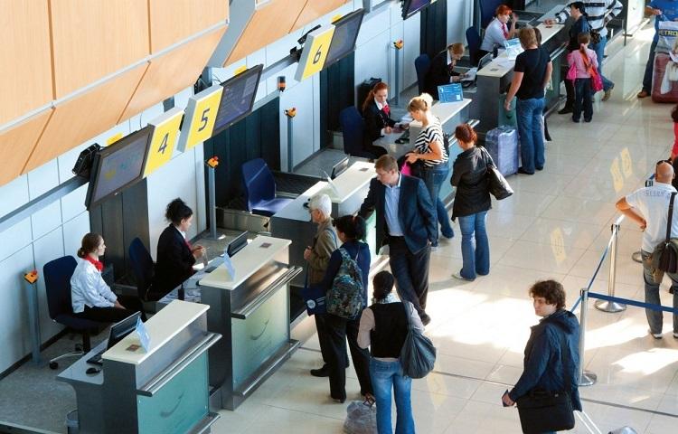 Прохождение регистрации на рейс компании Ижавиа