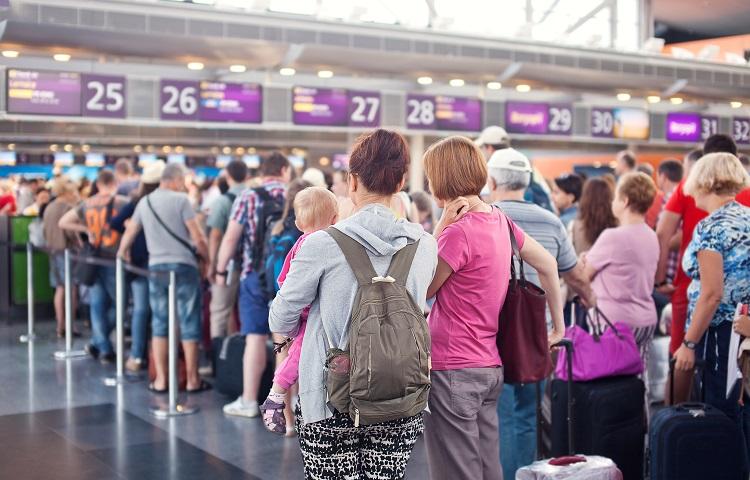 Прохождение регистрации на рейс компании КЛМ