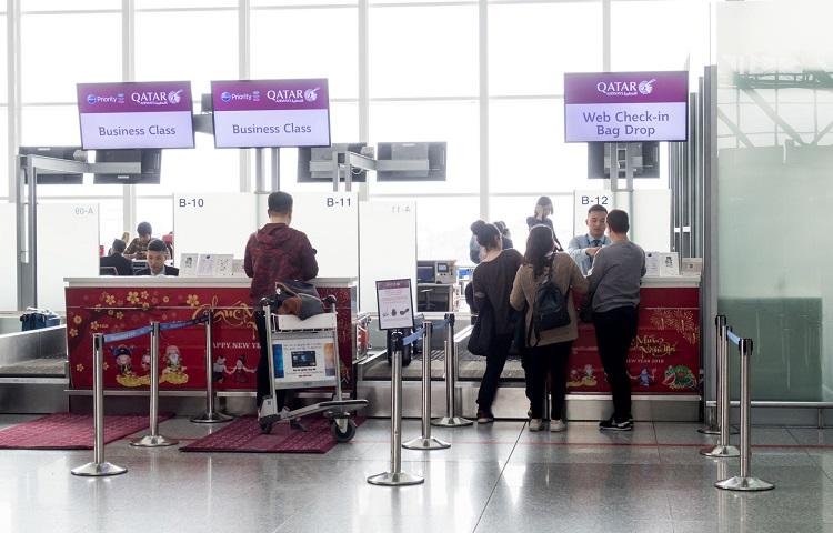 Регистрация на рейс Катарских авиалиний в аэропорту