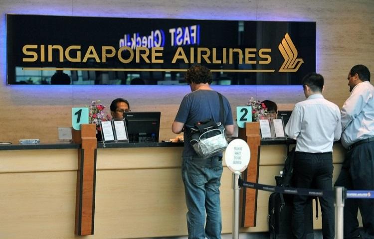Прохождение регистрации на рейс компании Сингапурские авиалинии