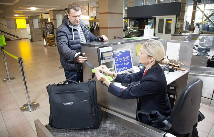 Оформление багажа в аэропорту Внуково