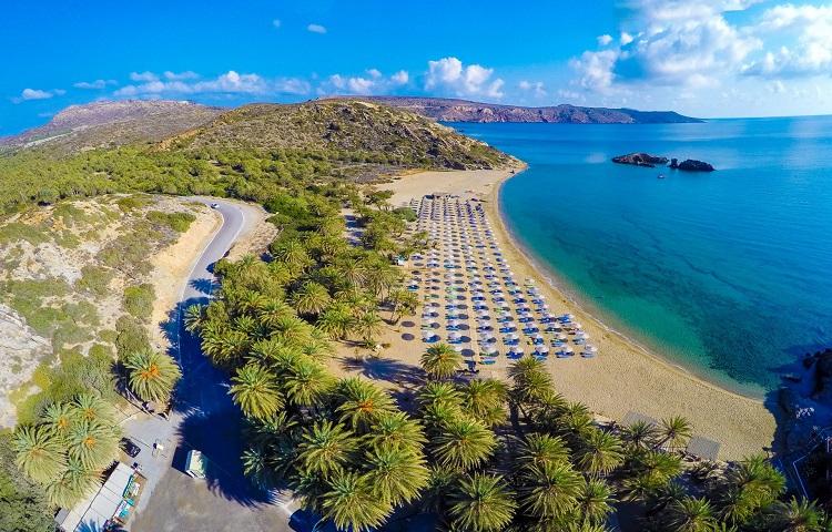 Пальмовый пляж Вай на Крите