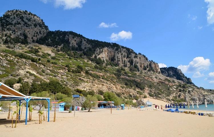 Пляж Агия Агати на острове Родос