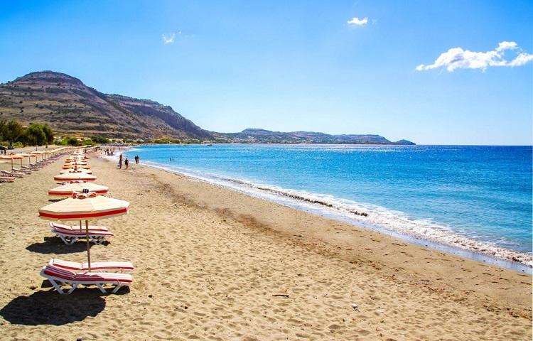 Пляж Элли на Родосе в Греции: инфраструктура, как добраться