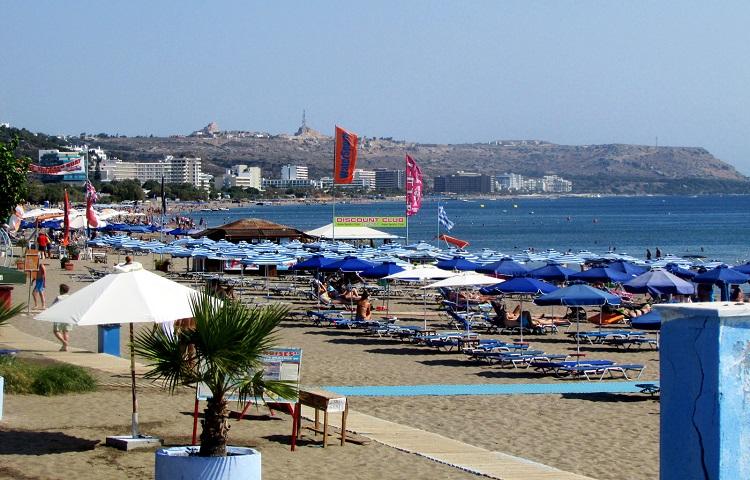 Пляж Фалираки на острове Родос