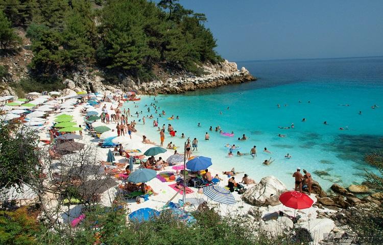 Лучшие пляжи греческого острова Тасос