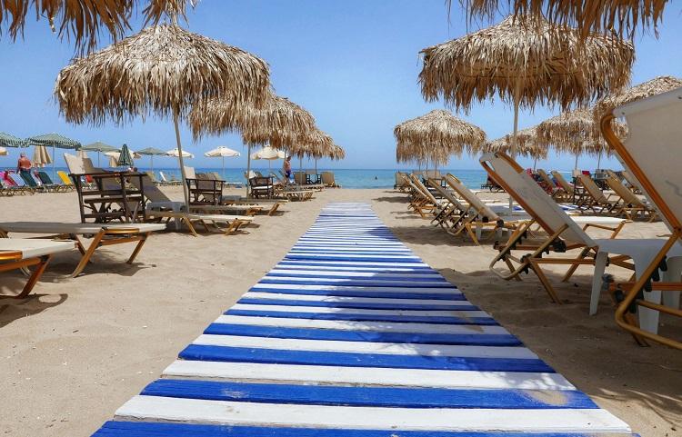Пляж Сталида на острове Крит