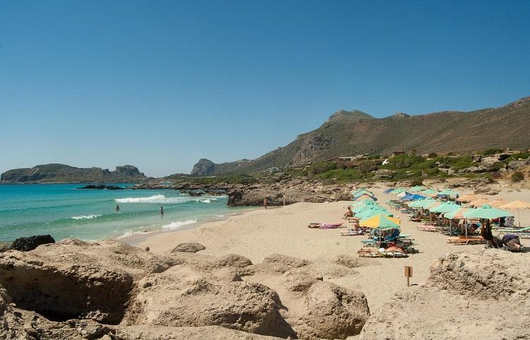 Пляж Фалассарна на Крите в Греции