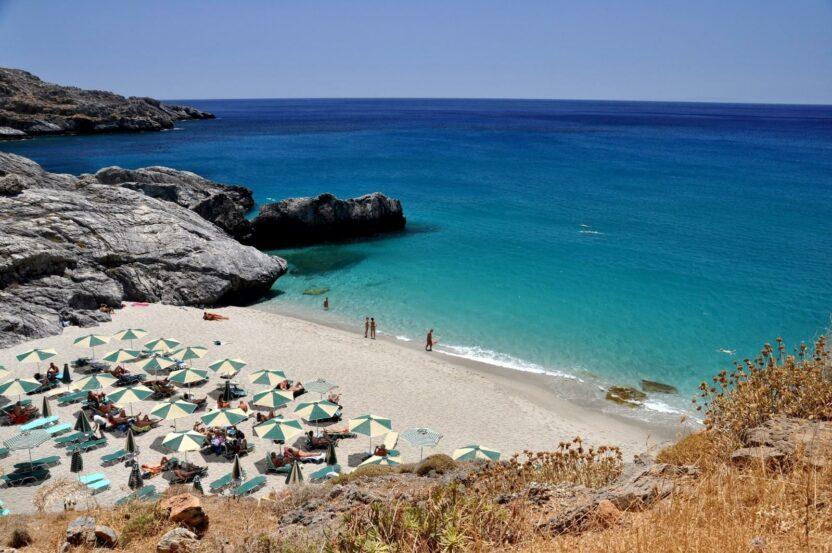 Пляжи острова Крит: песчаные, галечные, с ракушками, без волн