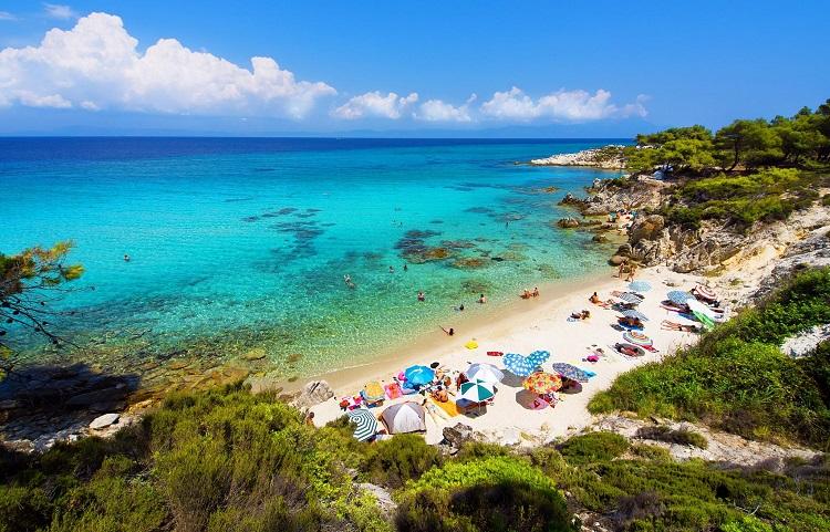 Пляжи полуострова Халкидики в Греции